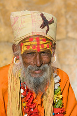 Indian sadhu (holy man). Jaisalmer, Rajasthan, India.