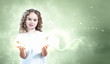 Child with magic light
