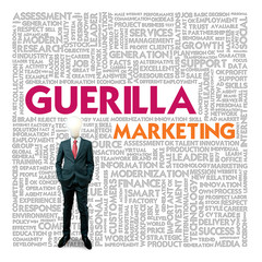 Business word cloud for business and finance concept, Guerilla m