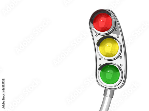 Funny twisted traffic lights