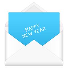 envelope happy new year