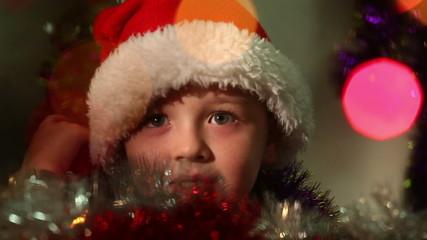 little boy dressed as Santa Claus 6