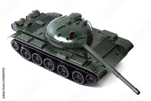 Tank on the white background