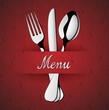 Menu Restaurant_Silver Red