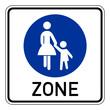 Verkehrsschild – Fußgängerbereich Beginn