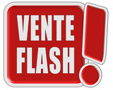 !-Schild rot quad VENTE FLASH