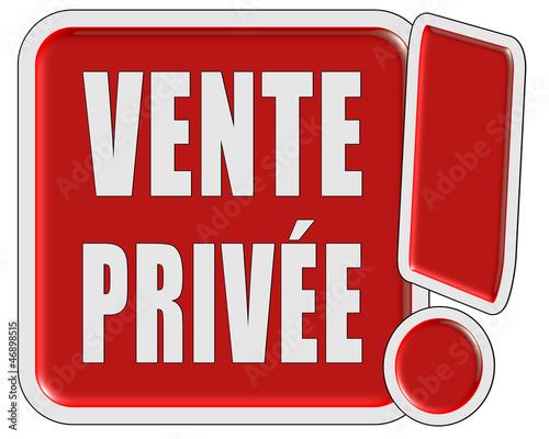 !-Schild rot quad VENTE PRIVEE