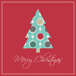 Christmas card with Seamless pattern background