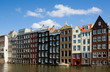 Facade of houses in Amsterdam