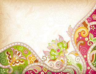 Abstract Swirly Floral