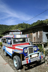 mountain road jeepny banaue philippines