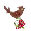 Decorative bird on a branch