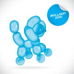 Balloon Dog Illustration, Icons, Button, Sign, Symbol, Logo