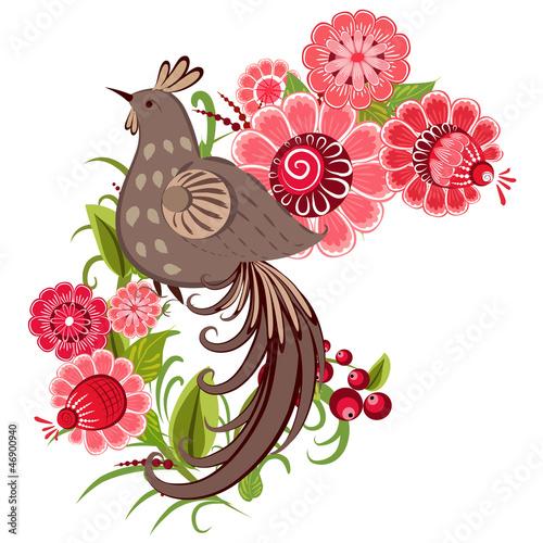 dekorativer-vogel-auf-einer-niederlassung