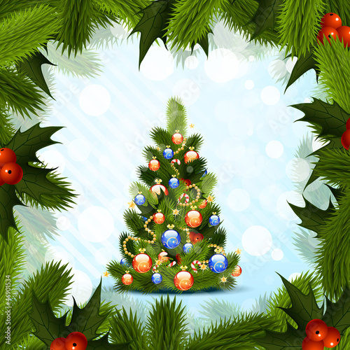 canvas print picture Christmas Tree
