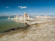 Colonnes de sel sur la plage du lac Mono