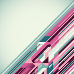 Geometric abstraction in color.