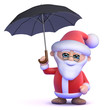 Santa with umbrella