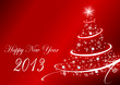 2013 new years vector illustration with christmas tree