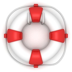 white lifebuoy on the wall