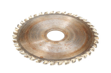 Rusty Circular Saw Blade Isolated on White Background