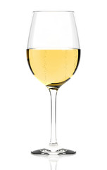 White wine glass isolated