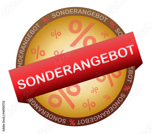 Sonderangebot Vektor Button Siegel
