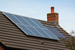 Central heating Solar Panels on a tiled roof