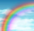 Natural background with rainbow