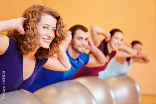 canvas print picture Gruppe beim Fitnesstraining