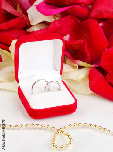 Beautiful box with wedding rings