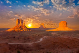 monument valley sunset clouds