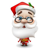 Santa Claus on white background, vector Eps 10 illustration