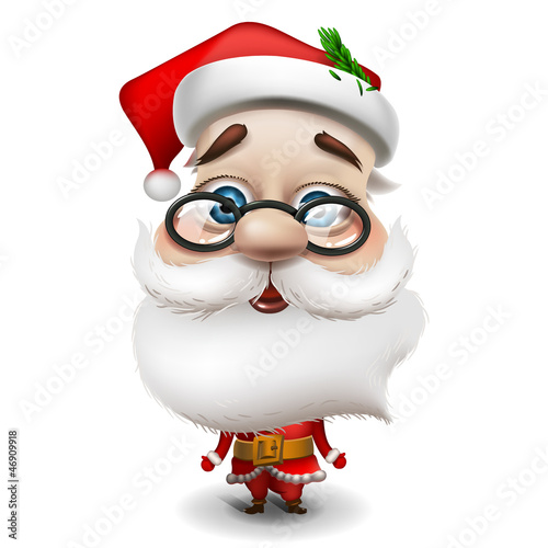 Santa Claus on white background, vector Eps 10 illustration