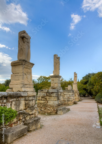 Statues of Giants and Tritons in the Ancient Agora of Athens