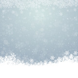 fall snowflake snow stars blue white background