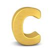 buchstabe letter C gold vertikal