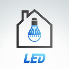 LED light bulb 5 (blue version)