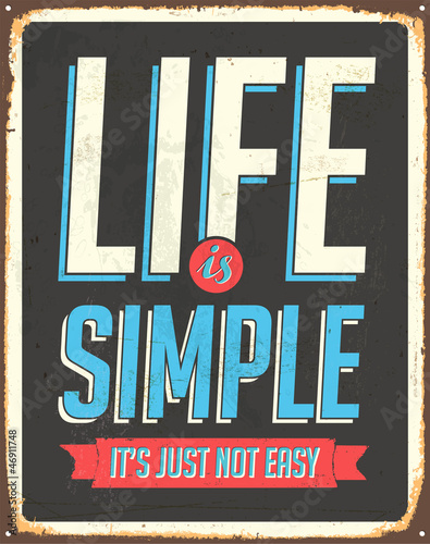 Fridge magnet Vintage Metal Sign - Vector - Grunge effects can be removed