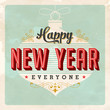 New Year's Eve Card - Vector - Grunge effects can be removed