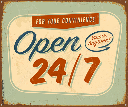 Vintage Metal Sign - Vector - Grunge effects can be removed