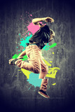 Fototapety Dancer in retro style with splashes