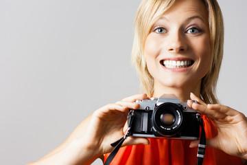 Beautiful Girl Takes A Photo