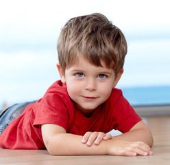 Cute sweet three years old boy