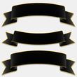 Schwarze Banderole, Banner, Design Elements Set