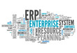 "canvas print picture - Word Cloud ""Enterprise Resource Planning"""