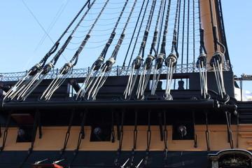Wooden battleships rigging