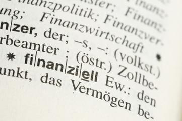 finanziell im wörterbuch