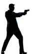 silhouette man full length shooting with gun