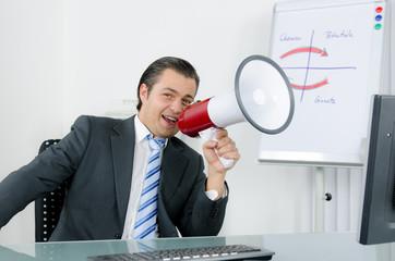 Manager macht eine Ansage